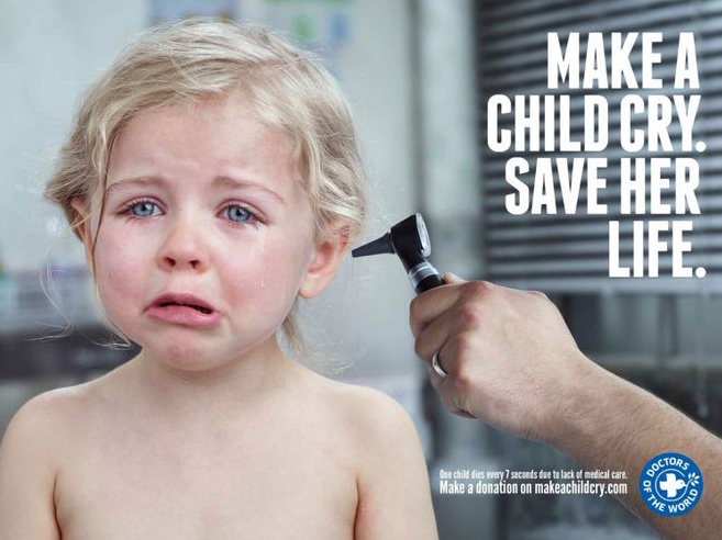 "Vídeo del día "" Make a child cry, save her life"""