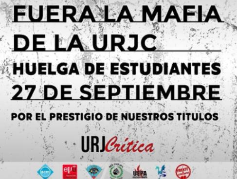 Los estudiantes de la URJC enhuelga