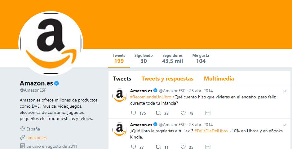 Amazon España Twitter