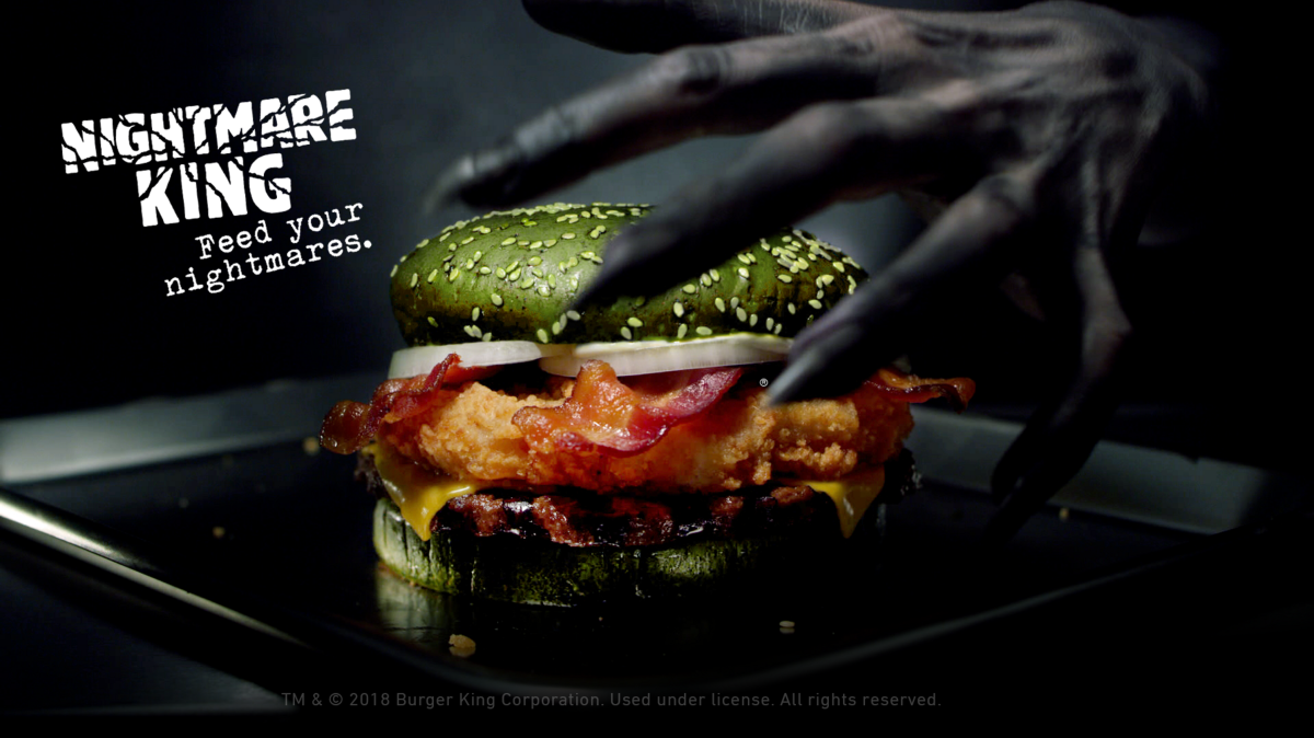 Nightmare King. La hamburguesa de tus pesadillas by Burger King