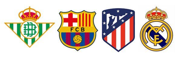 La evolución de los escudos más históricos del fútbolespañol